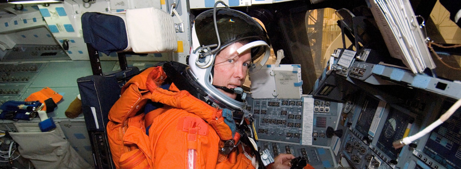 Astronaut Dominic L. Gorie participates in a training session in the crew