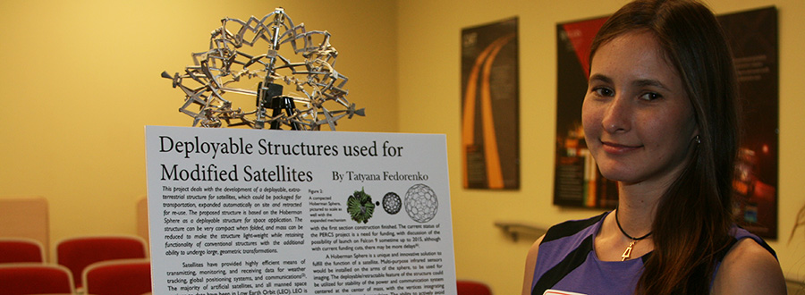 Tatyana Fedorenko: Deployable Structures used for Modified Satellites, Poster Session 2014