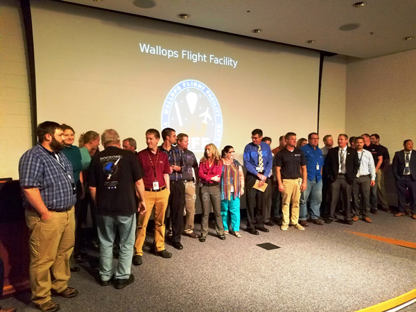 At Wallops Flight Facility - Wallops staff involved in launch